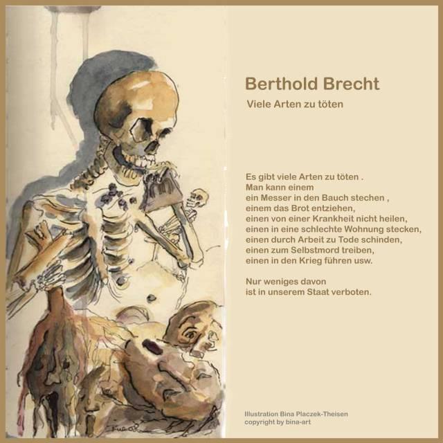 Berthold Brecht - Text Bina - Zeichnung