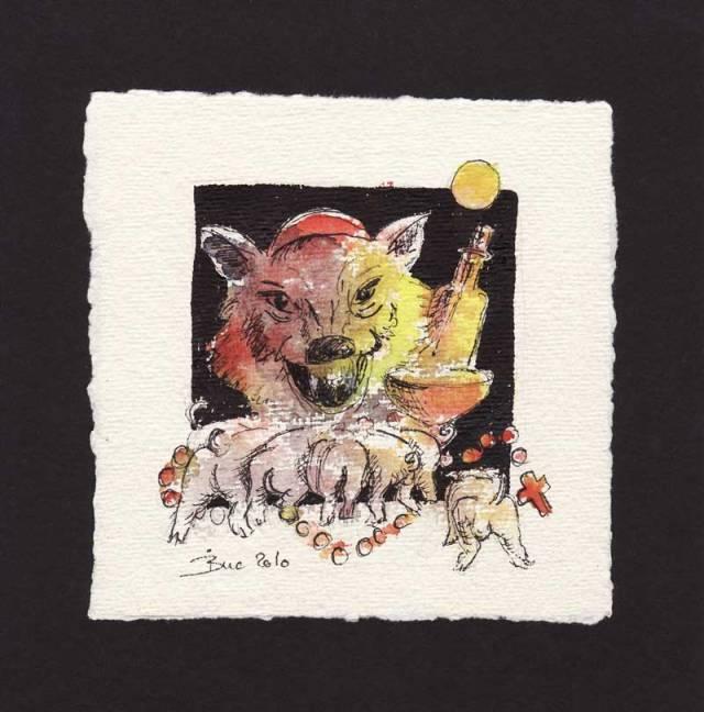 Ihr Kinderlein kommet oder Der Wolf und seine 7 Messdienerlein (Binas Bösartigkeiten)