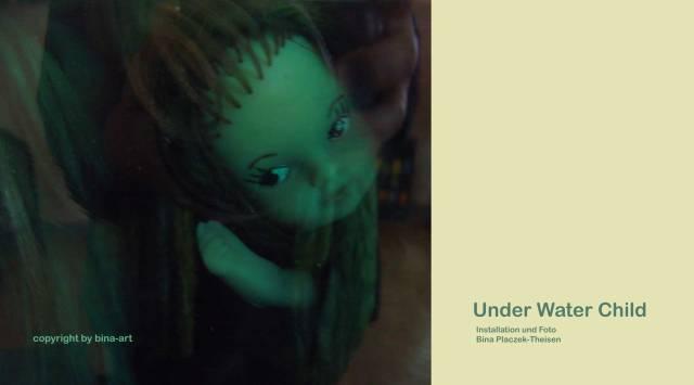 under water child