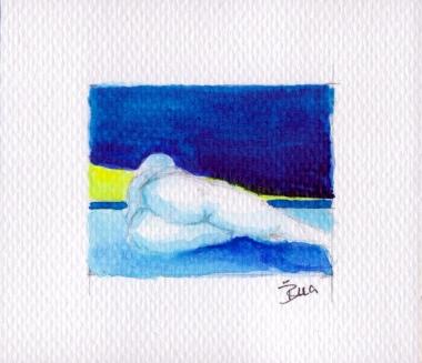 Akt im Blau